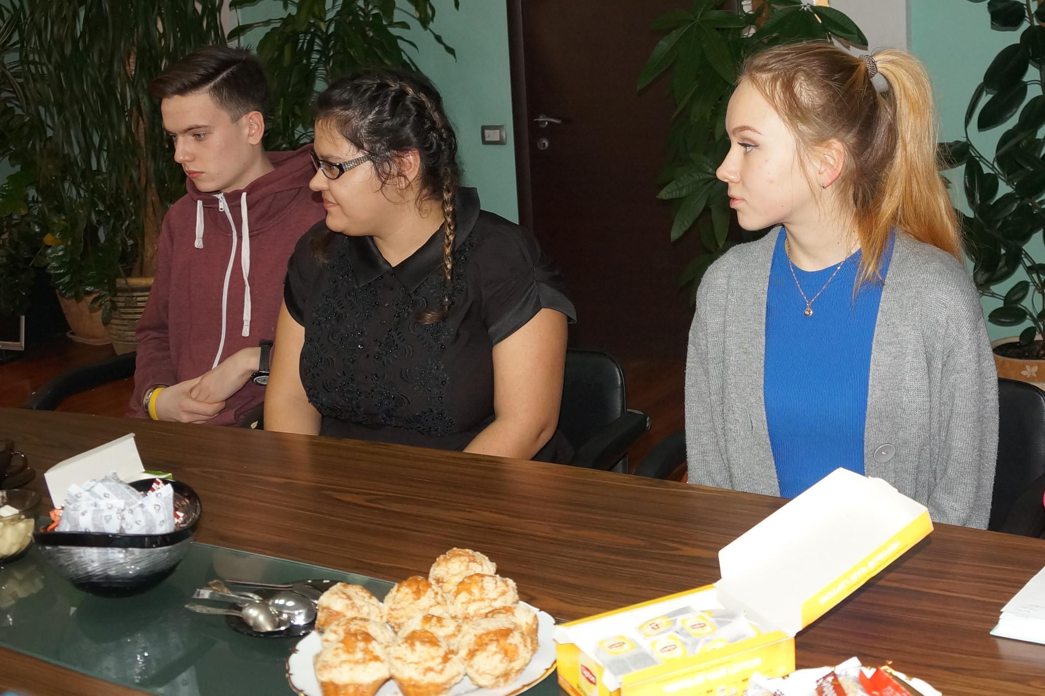 Встреча с победителями конкурса Ученик года